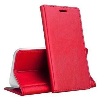 """Raudonas atverčiamas dėklas Samsung Galaxy A405 A40 telefonui """"Magnetic book"""""""