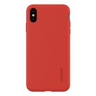 "Raudonas dėklas ""Araree A-Fit"" Apple iPhone XS Max telefonui"