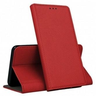 Raudonas atverčiamas dėklas Smart Magnet telefonui LG K50S