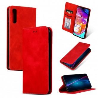 """Raudonas atverčiamas dėklas Samsung Galaxy A705 A70 telefonui """"Business Style"""""""