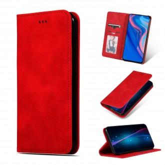 """Raudonas atverčiamas dėklas Samsung Galaxy N975 Note 10 Plus telefonui """"Business Style"""""""