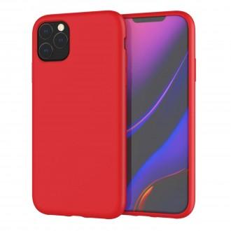 "Raudonas silikoninis dėklas Apple iPhone 11 Pro Max telefonui ""Liquid Silicone"" 2.0mm"