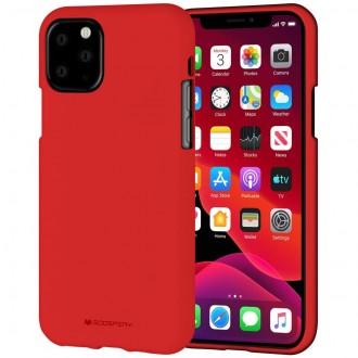 "Raudonas silikoninis dėklas Apple iPhone 11 Pro Max telefonui ""Mercury Soft Feeling"""