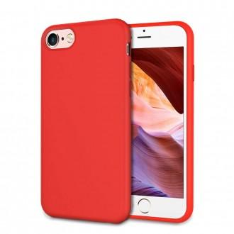 """Raudonas silikoninis dėklas Apple iPhone 6 / 6S telefonui """"Liquid Silicone"""" 1.5mm"""