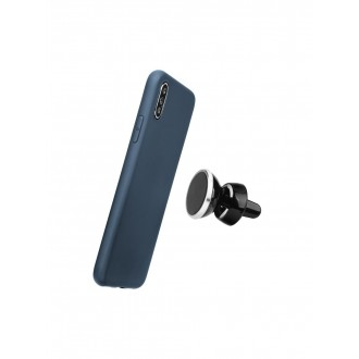 "Tamsiai mėlynas silikoninis dėklas Apple iPhone XS Max telefonui ""Soft Case Magnet"""