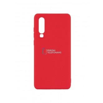 """Raudonas silikoninis dėklas Huawei P30 telefonui """"Mercury Soft Feeling"""""""