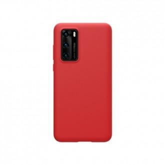 """Raudonas silikoninis dėklas Huawei P40 telefonui """"Liquid Silicone"""" 1.5mm"""