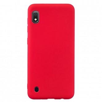 "Raudonas silikoninis dėklas Samsung Galaxy A105 A10 telefonui ""Mercury Soft Feeling"""
