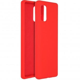 """Raudonas silikoninis dėklas Samsung Galaxy A41 telefonui """"Liquid Silicone"""" 1.5mm"""