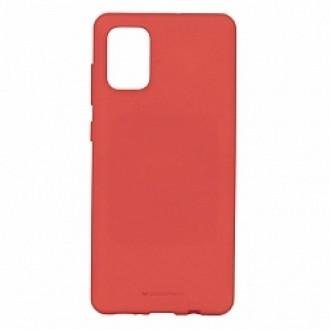 """Raudonas silikoninis dėklas Samsung Galaxy A41 telefonui """"Mercury Soft Feeling"""""""