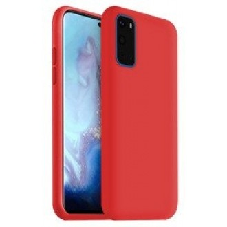 """Raudonas silikoninis dėklas Samsung Galaxy G981 S20 telefonui """"Liquid Silicone"""" 1.5mm"""