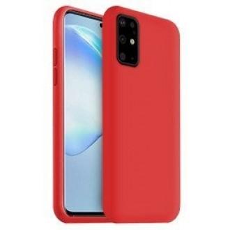 """Raudonas silikoninis dėklas Samsung Galaxy G986 S20 Plus telefonui """"Liquid Silicone"""" 1.5mm"""