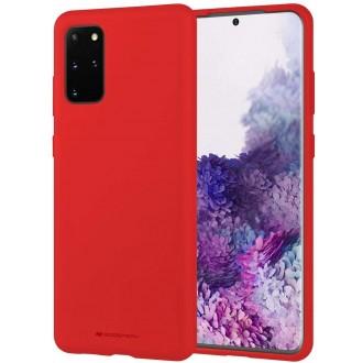 """Raudonas silikoninis dėklas Samsung Galaxy G986 S20 Plus telefonui """"Mercury Soft Feeling"""""""