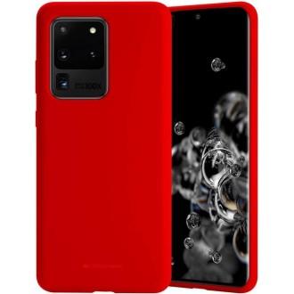"""Raudonas silikoninis dėklas Samsung Galaxy G988 S20 Ultra telefonui """"Mercury Soft Feeling"""""""
