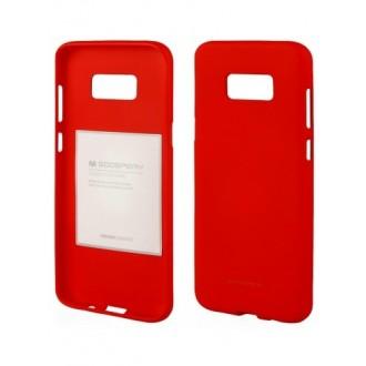"""Raudonas silikoninis dėklas Samsung Galaxy Note 8 telefonui """"Mercury Soft Feeling"""""""