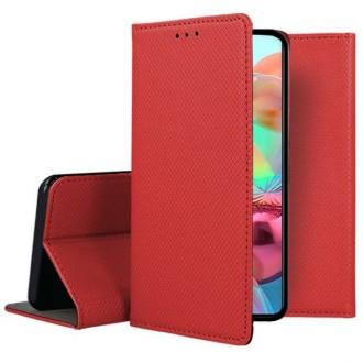 """Raudonos spalvos atverčiamas dėklas Samsung Galaxy A715 A71 telefonui """"Smart Magnet"""""""
