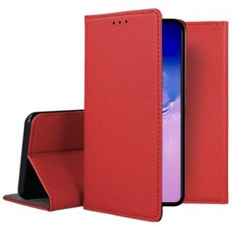 """Raudonos spalvos atverčiamas dėklas Samsung Galaxy S10 Lite / A91 telefonui """"Smart Magnet"""""""