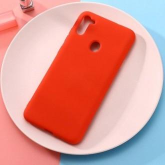 Raudonos spalvos dėklas X-Level Dynamic Samsung Galaxy A11 telefonui