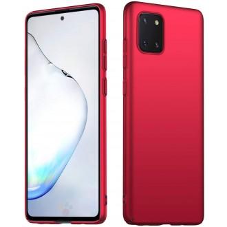 Raudonos spalvos dėklas X-Level Thin 0.88  Samsung Galaxy Note 10 Lite / A81 telefonui