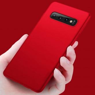 Raudonos spalvos dėklas X-Level Guardian Samsung Galaxy G970 S10 telefonui