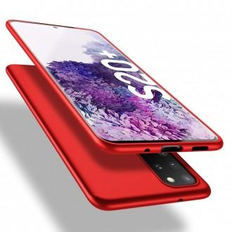 Raudonos spalvos dėklas X-Level Guardian Samsung Galaxy G986 S20 plus telefonui