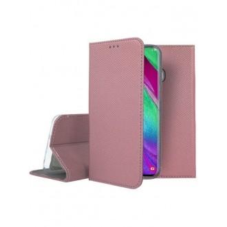 """Rožinės-Auksinės spalvos atverčiamas dėklas Samsung Galaxy A405 A40 telefonui """"Smart Magnet"""""""