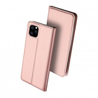 """Rožinis-Auksinis atverčiamas dėklas Apple iPhone 11 Pro telefonui """"Dux Ducis Skin"""""""