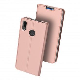 """Rožinis-Auksinis atverčiamas dėklas Huawei P Smart Z telefonui """"Dux Ducis Skin"""""""