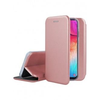"""Rožinis-Auksinis atverčiamas dėklas Samsung Galaxy A505 A50 / A507 A50s / A307 A30s telefonui """"Book Elegance"""""""