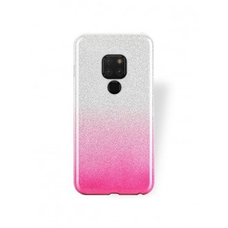 """Rožinis blizgantis silikoninis dėklas Huawei Mate 20 telefonui """"Bling"""""""