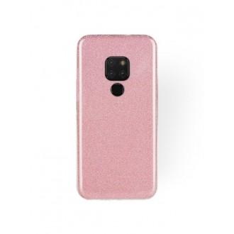 "Rožinis blizgantis silikoninis dėklas Huawei Mate 20 telefonui ""Shining"""