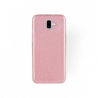 """Rožinis blizgantis silikoninis dėklas Samsung Galaxy A6 2018 (A600) telefonui """"Shining"""""""