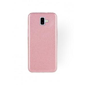 """Rožinis blizgantis silikoninis dėklas Samsung Galaxy J610 J6 Plus 2018 telefonui """"Shining"""""""