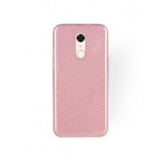 """Rožinis blizgantis silikoninis dėklas Xiaomi Redmi 5 telefonui """"Shining"""""""