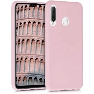 """Rožinis silikoninis dėklas Huawei P30 Lite telefonui """"Rubber TPU"""""""