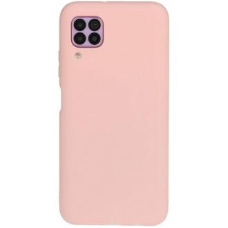 """Rožinis silikoninis dėklas Huawei P40 Lite telefonui """"Liquid Silicone"""" 1.5mm"""