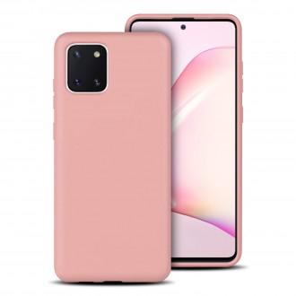"""Rožinis silikoninis dėklas Samsung Galaxy Note 10 Lite / A81 telefonui """"Rubber TPU"""""""