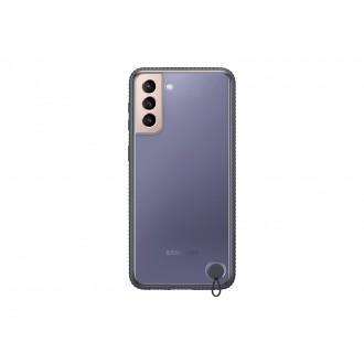 """Originalus Samsung Galaxy S21 telefonui skaidrus - juodas """"Clear Protective Cover"""""""