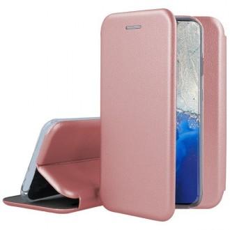 """Rožinės-Auksinės spalvos atverčiamas dėklas Samsung Galaxy G981 S20 telefonui """"Book elegance"""""""