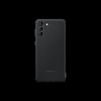 """Orginalus Samsung S21 PLUS juodas silikoninis dėklas """"Silicone Cover"""""""