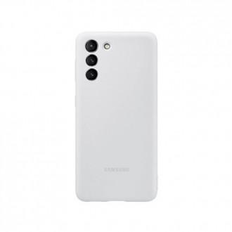 """Orginalus Samsung S21 PLUS šviesiai pilkas silikoninis dėklas """"Silicone Cover"""""""
