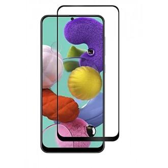 LCD apsauginis stikliukas 9D Full Glue Samsung A515 A51 juodas