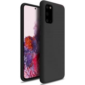 """Juodas silikoninis dėklas Samsung Galaxy G988 S20 Ultra telefonui """"Silicone Lite"""""""