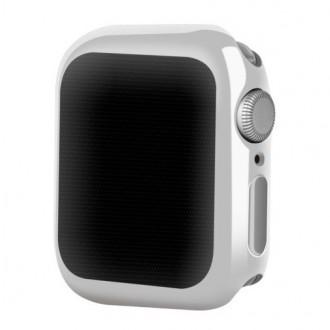 Sidabrinės spalvos dėklas Devia Gold-Plated V2 Apple Watch