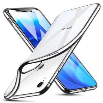 "Sidabrinės spalvos silikoninis dėklas Apple Iphone XR telefonui ""Esr Essential"""