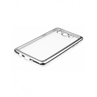 """Sidabrinės spalvos silikoninis dėklas Samsung Galaxy J5 2016 Telefonui """"Rubber Bumper"""""""