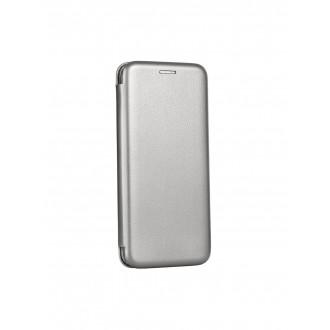"""Sidabrinis atverčiamas dėklas Galaxy A32 5G telefonui """"Book Elegance"""""""