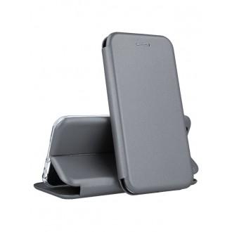 """Sidabrinis atverčiamas dėklas Samsung Galaxy J530 J5 2017 telefonui """"Book Elegance"""" (EUROPOS RINKAI)"""