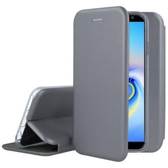"""Sidabrinis atverčiamas dėklas Samsung Galaxy J610 Plus 2018 telefonui """"Book Elegance"""""""