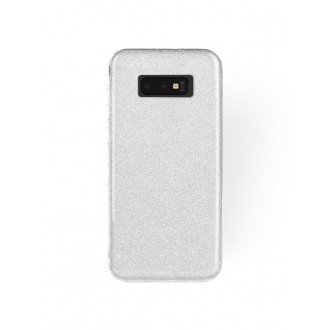 """Sidabrinis blizgantis silikoninis dėklas Samsung Galaxy S10 Lite telefonui """"Shining"""""""